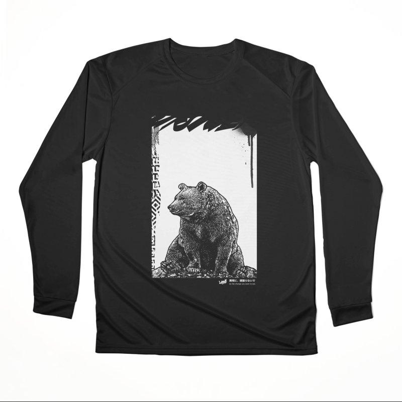 BEAR (Black&White) Men's Longsleeve T-Shirt by StudioDaboo's Artist Shop