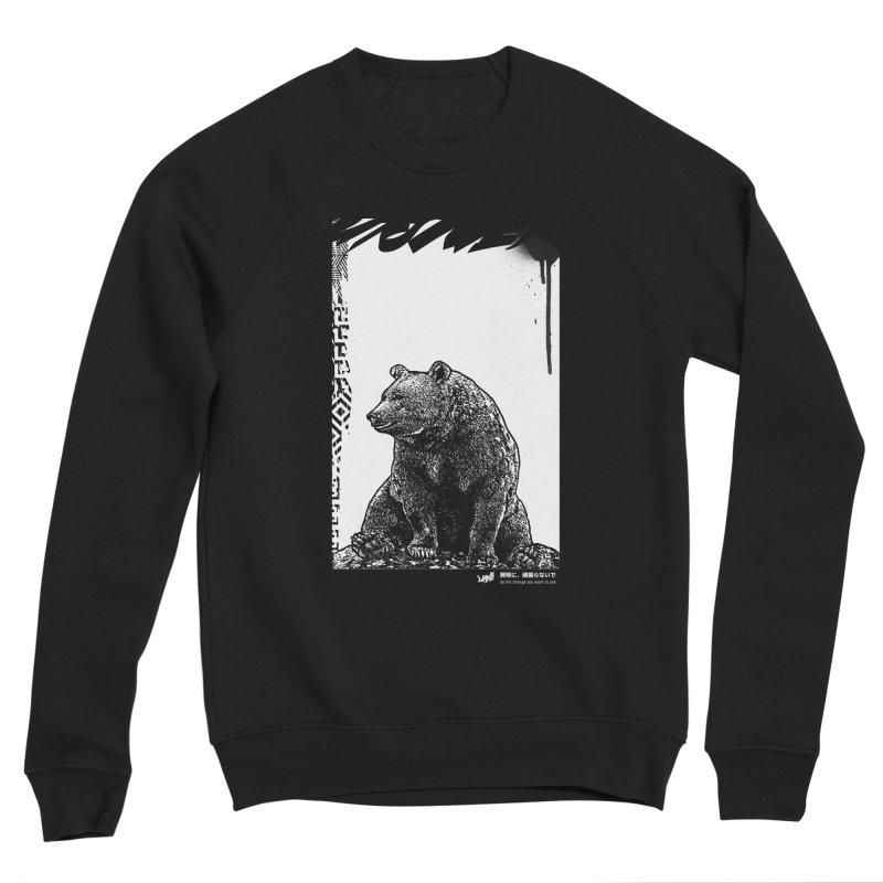BEAR (Black&White) Men's Sweatshirt by StudioDaboo's Artist Shop