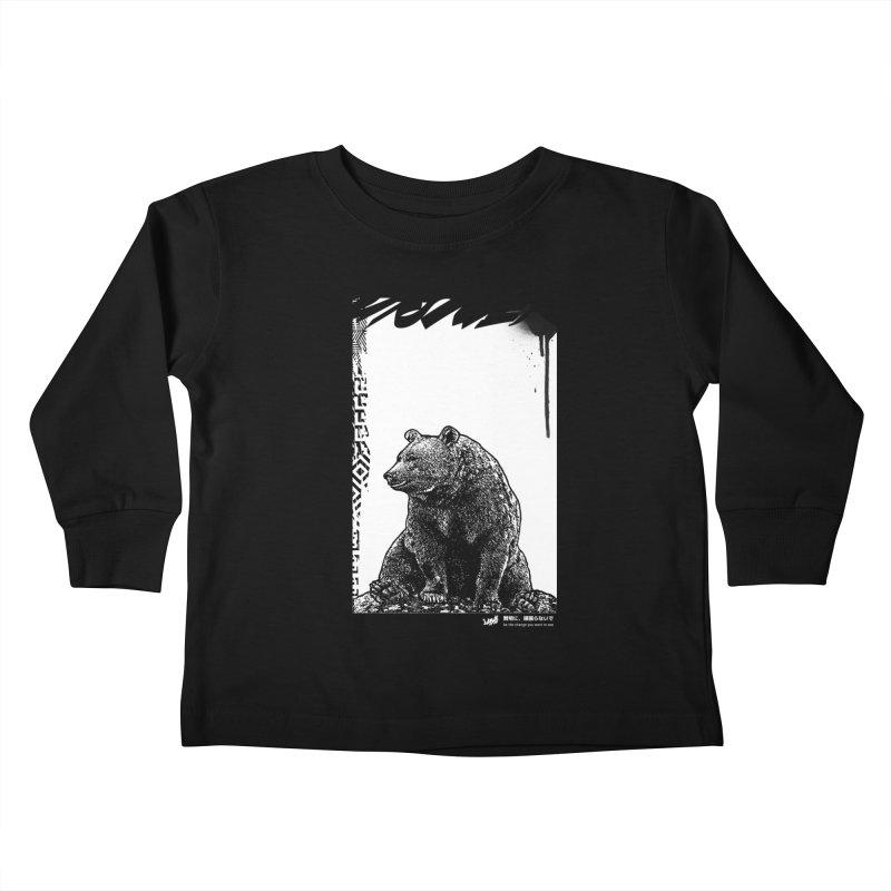 BEAR (Black&White) Kids Toddler Longsleeve T-Shirt by StudioDaboo's Artist Shop