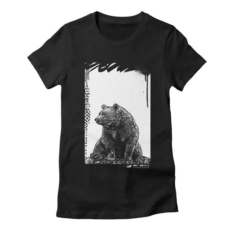 BEAR (Black&White) Women's T-Shirt by StudioDaboo's Artist Shop