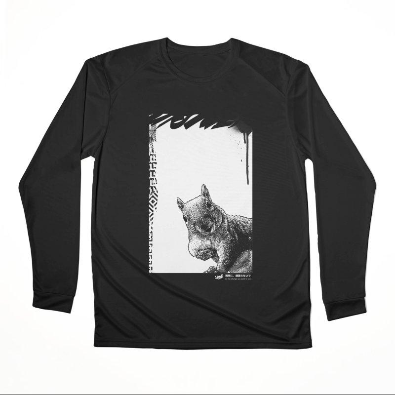 Chipmunk (Black&White) Men's Longsleeve T-Shirt by StudioDaboo's Artist Shop