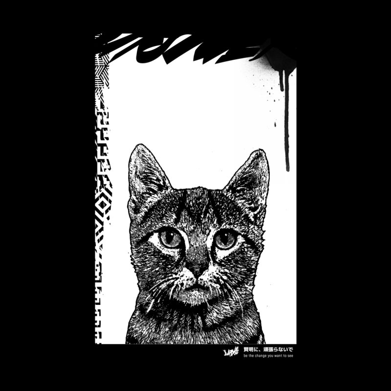 Cat (Black&White) Men's T-Shirt by StudioDaboo's Artist Shop