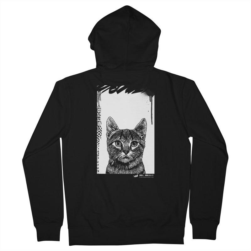 Cat (Black&White) Men's Zip-Up Hoody by StudioDaboo's Artist Shop