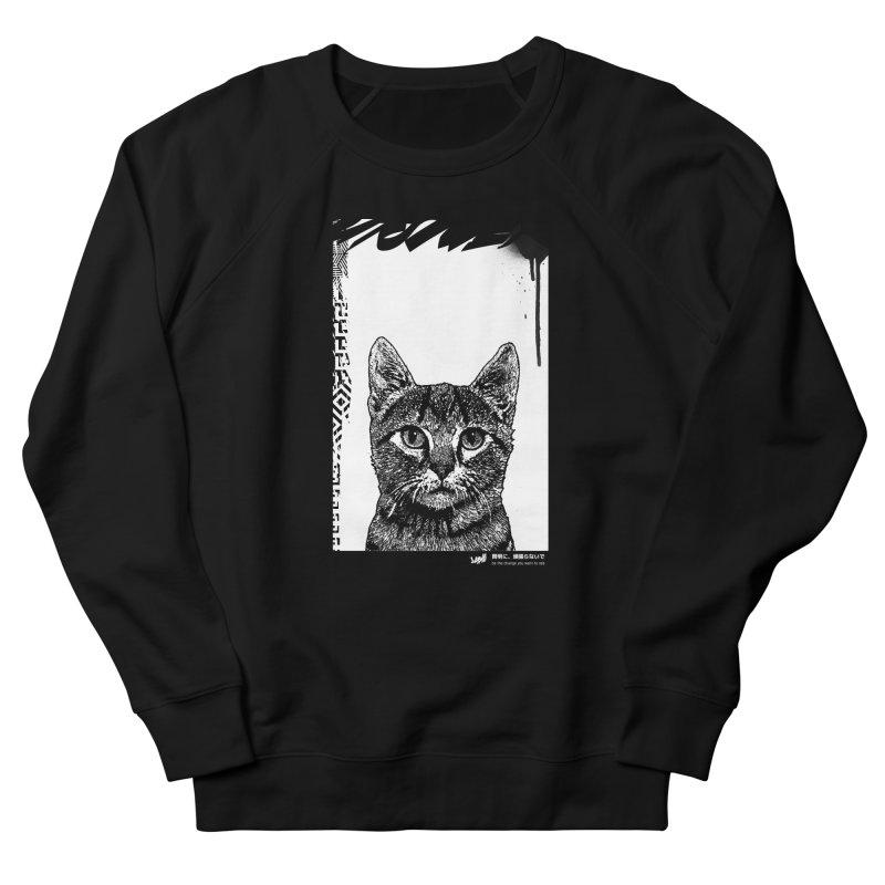 Cat (Black&White) Women's Sweatshirt by StudioDaboo's Artist Shop
