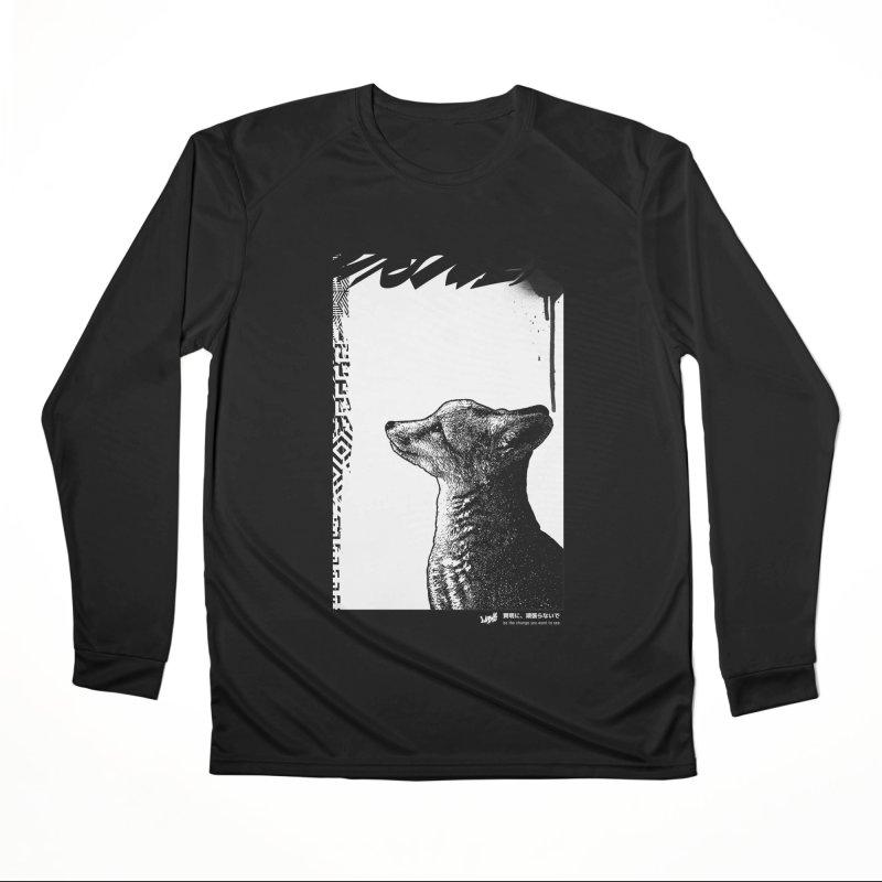 Fox (Black&White) Men's Longsleeve T-Shirt by StudioDaboo's Artist Shop