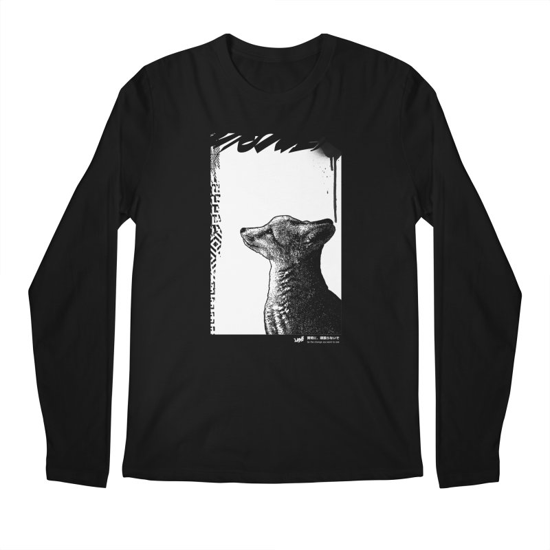 Fox (Black&White) Men's Longsleeve T-Shirt by StudioDaboo's Artist Shop