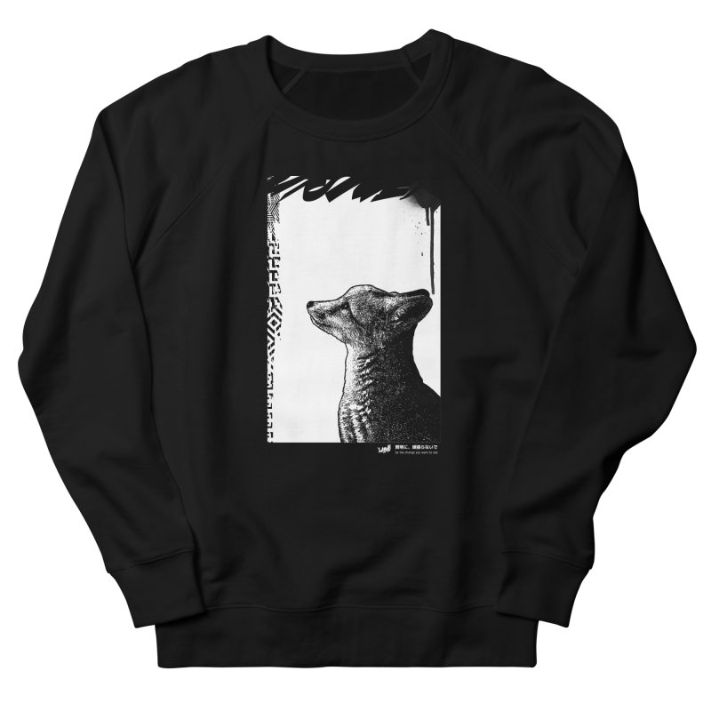 Fox (Black&White) Men's Sweatshirt by StudioDaboo's Artist Shop