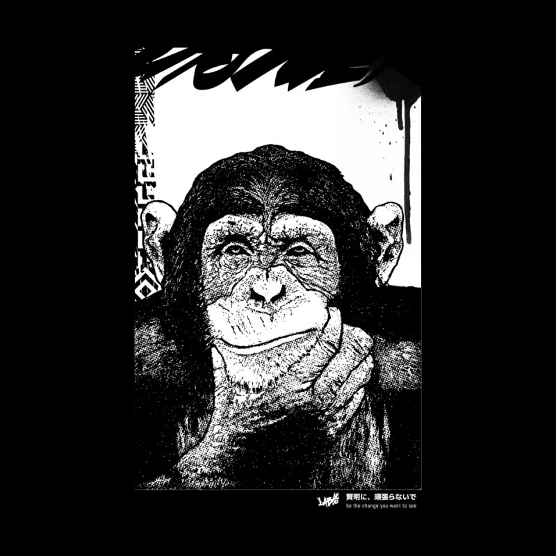 Chimp (Black&White) Men's Longsleeve T-Shirt by StudioDaboo's Artist Shop