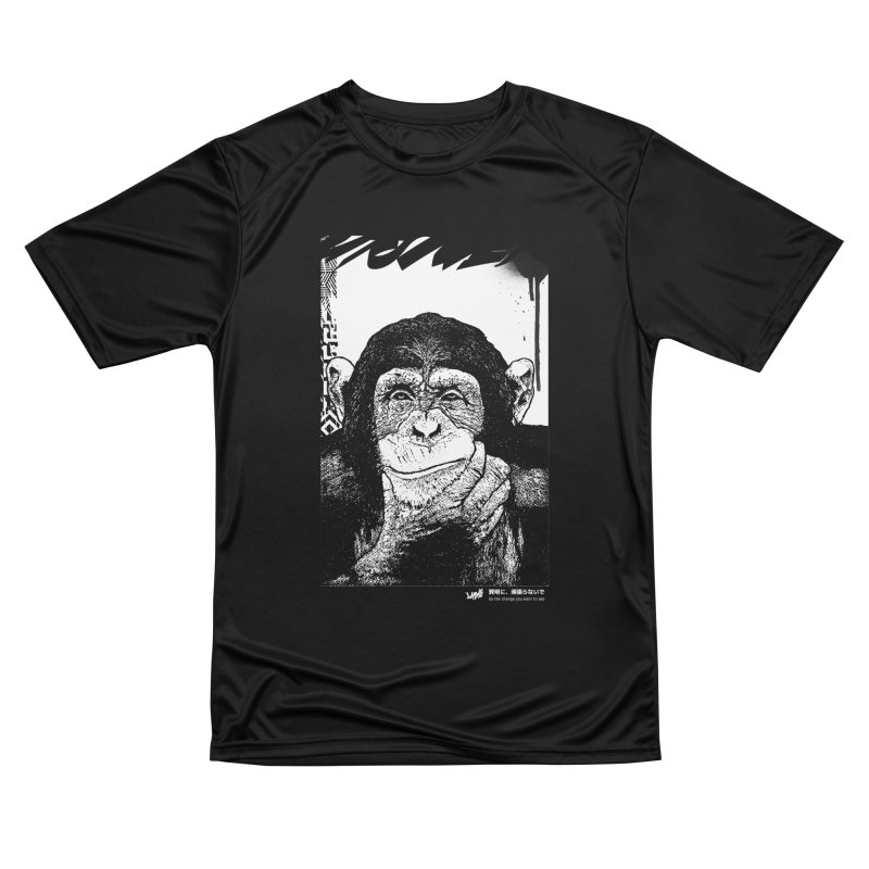 Chimp (Black&White) Women's T-Shirt by StudioDaboo's Artist Shop