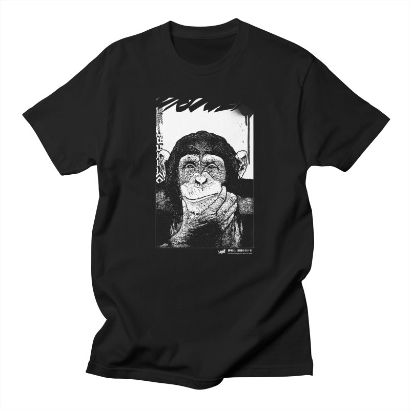 Chimp (Black&White) Men's T-Shirt by StudioDaboo's Artist Shop