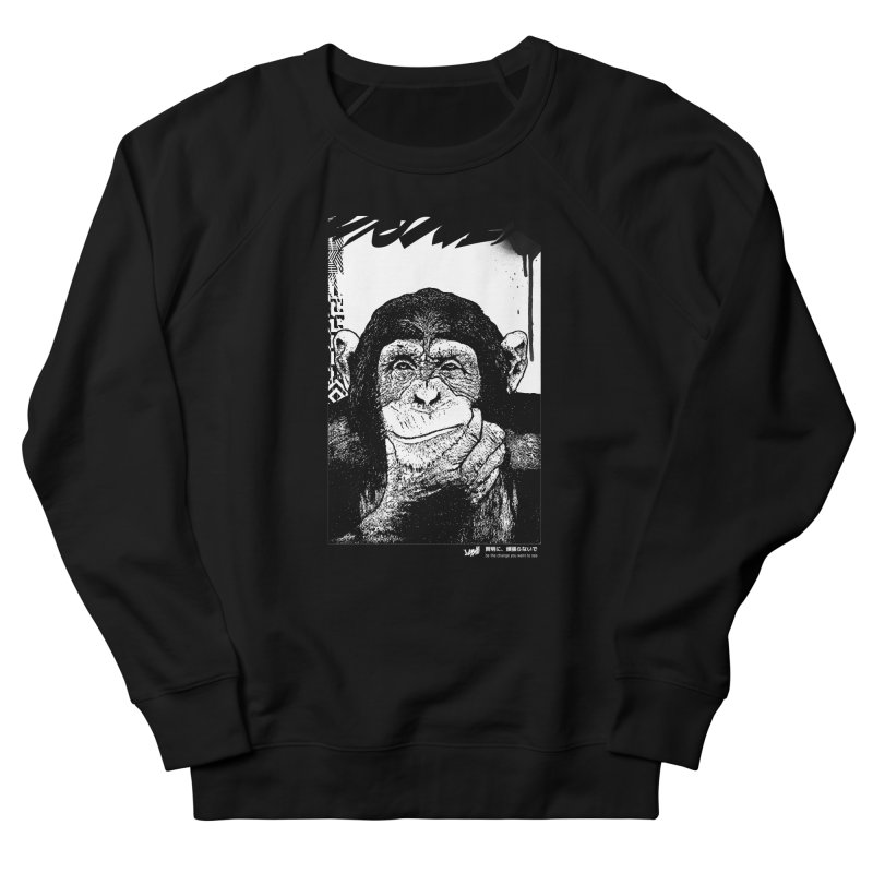 Chimp (Black&White) Men's Sweatshirt by StudioDaboo's Artist Shop