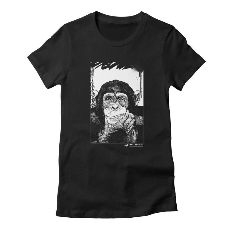 Chimp (Black&White) Women's T-Shirt by StudioDaboo's Artist Shop