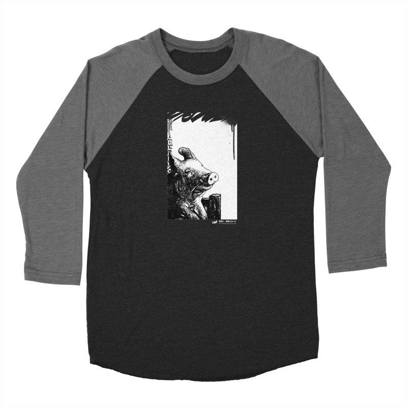 Pig (Black&White) Men's Longsleeve T-Shirt by StudioDaboo's Artist Shop