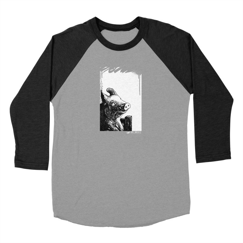 Pig (Black&White) Men's Longsleeve T-Shirt by StudioDaboo's Artist Shop