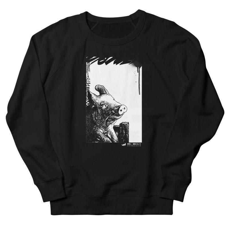 Pig (Black&White) Men's Sweatshirt by StudioDaboo's Artist Shop