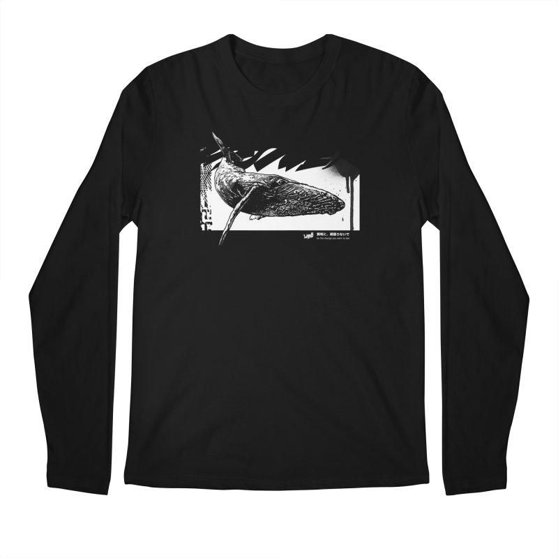 Whale II (Black&White) Men's Longsleeve T-Shirt by StudioDaboo's Artist Shop