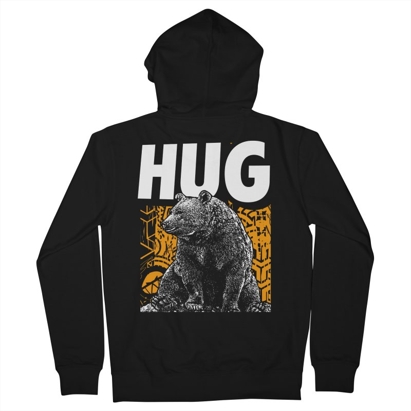 Bear Hug Men's French Terry Zip-Up Hoody by StudioDaboo's Artist Shop