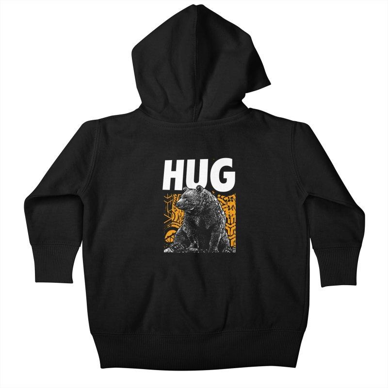 Bear Hug Kids Baby Zip-Up Hoody by StudioDaboo's Artist Shop