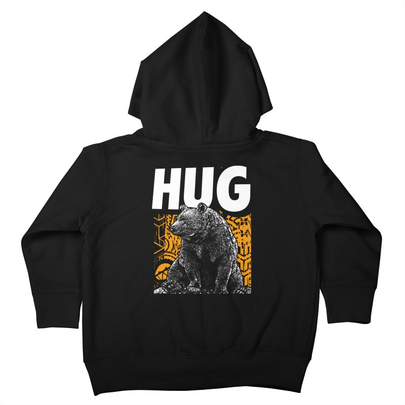 Bear Hug Kids Toddler Zip-Up Hoody by StudioDaboo's Artist Shop