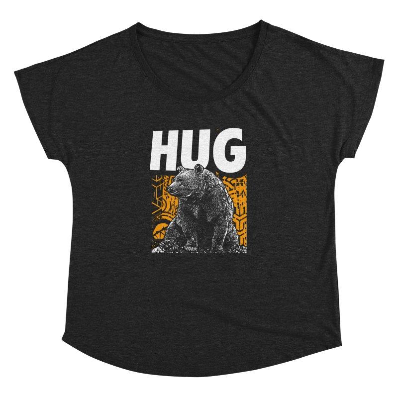 Bear Hug Women's Dolman Scoop Neck by StudioDaboo's Artist Shop