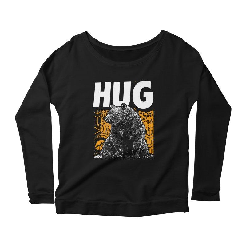 Bear Hug Women's Scoop Neck Longsleeve T-Shirt by StudioDaboo's Artist Shop