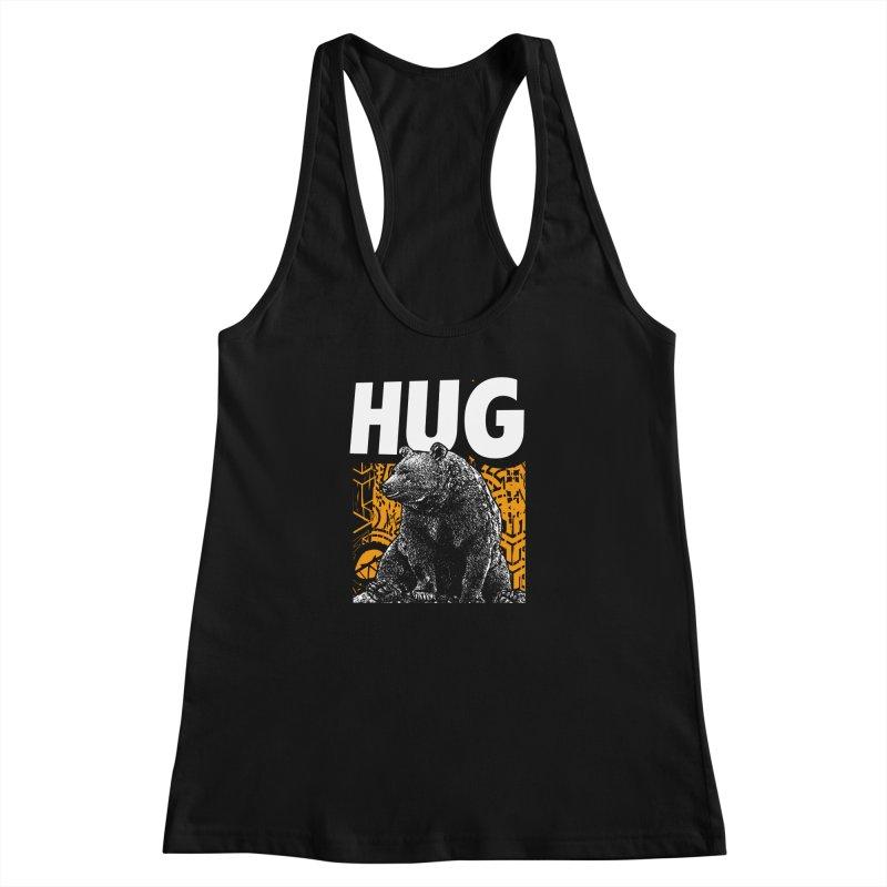 Bear Hug Women's Racerback Tank by StudioDaboo's Artist Shop