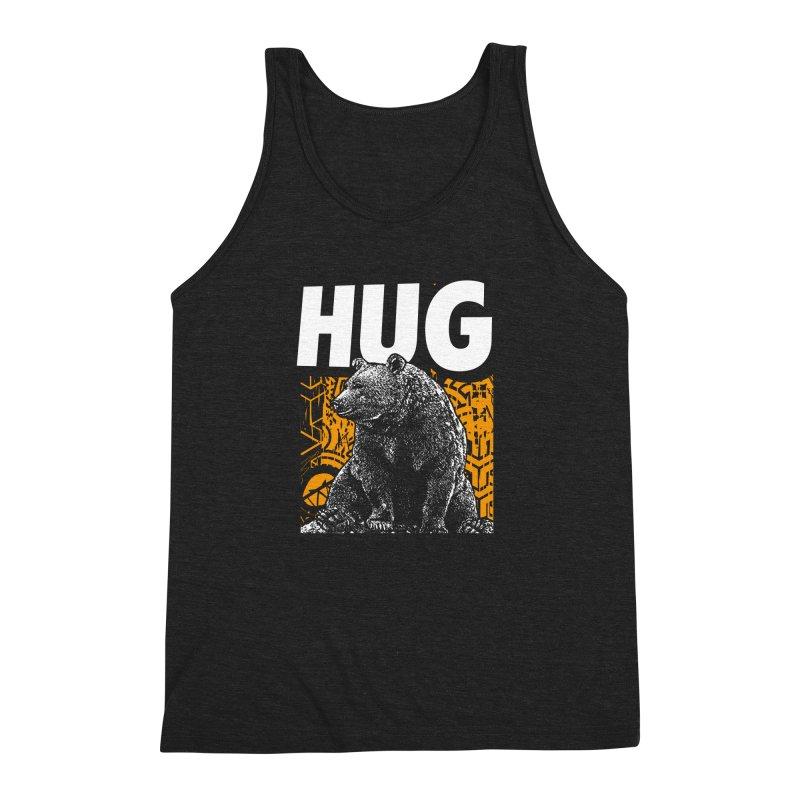 Bear Hug Men's Triblend Tank by StudioDaboo's Artist Shop