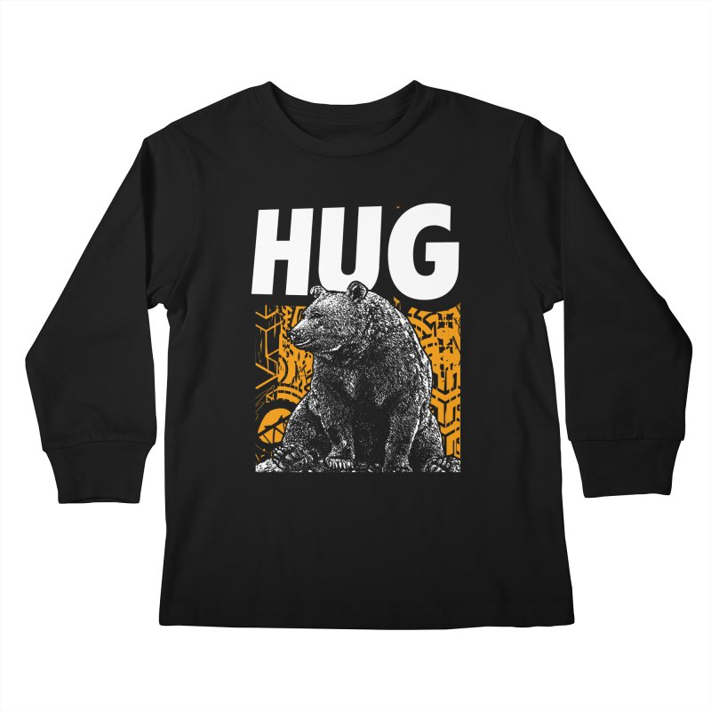 Bear Hug Kids Longsleeve T-Shirt by StudioDaboo's Artist Shop