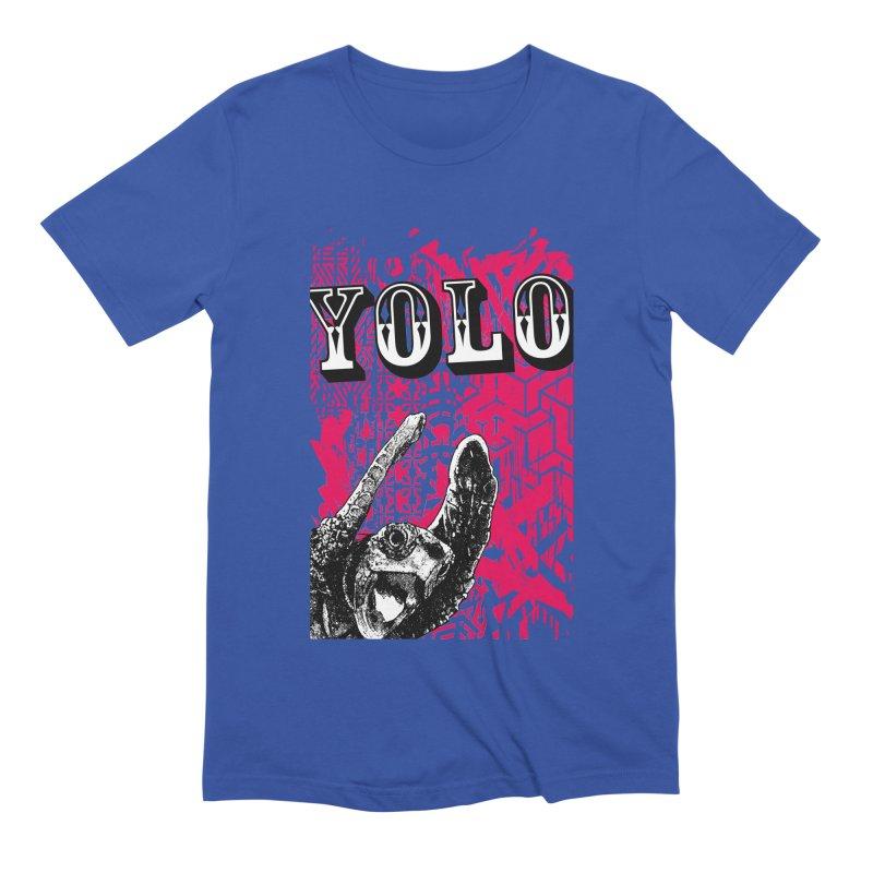 YOLO Men's Extra Soft T-Shirt by StudioDaboo's Artist Shop