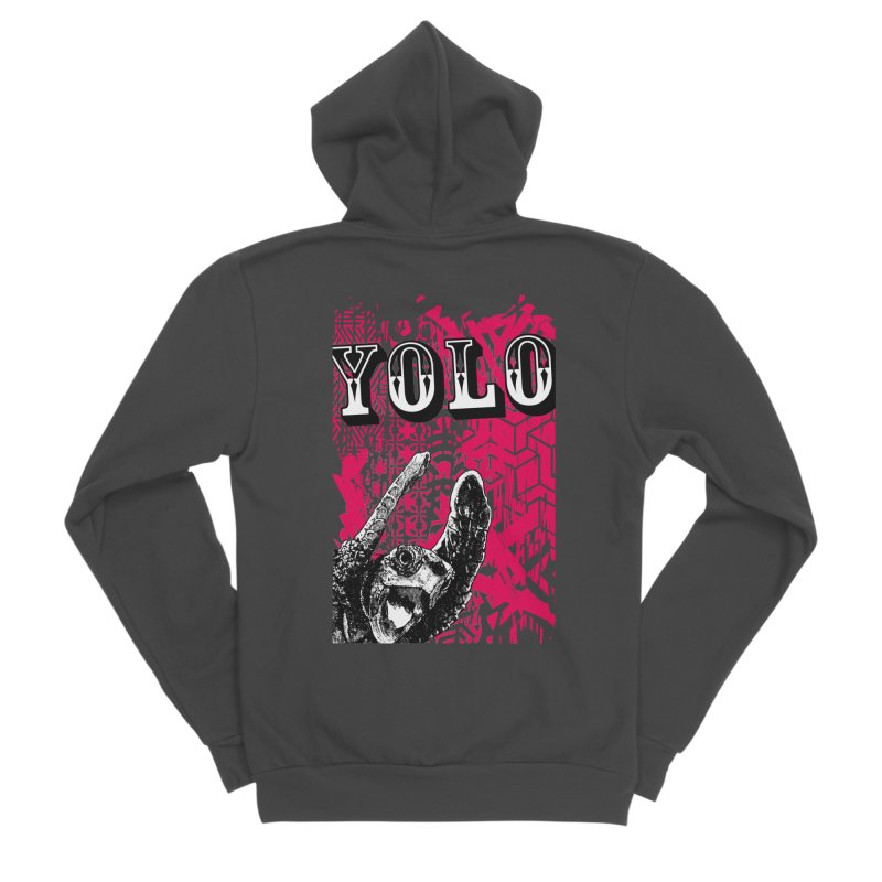 YOLO Women's Sponge Fleece Zip-Up Hoody by StudioDaboo's Artist Shop