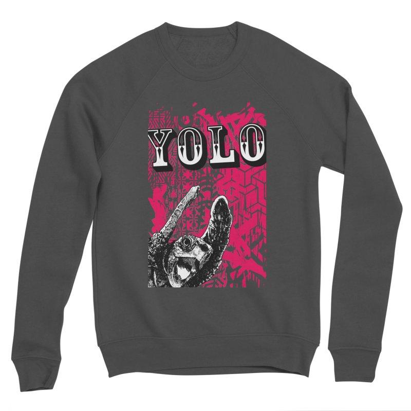YOLO Men's Sponge Fleece Sweatshirt by StudioDaboo's Artist Shop