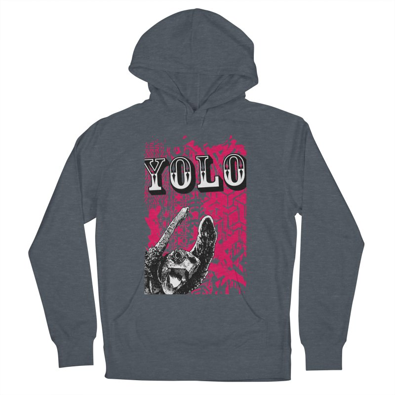 YOLO Men's French Terry Pullover Hoody by StudioDaboo's Artist Shop