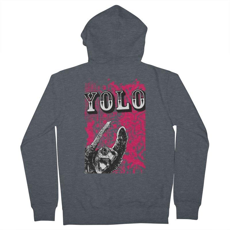 YOLO Men's French Terry Zip-Up Hoody by StudioDaboo's Artist Shop