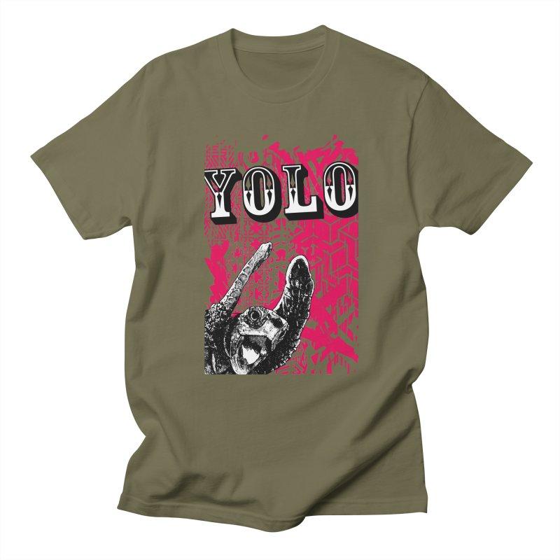 YOLO Men's Regular T-Shirt by StudioDaboo's Artist Shop