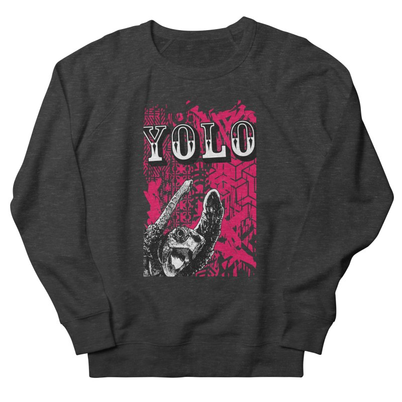 YOLO Men's French Terry Sweatshirt by StudioDaboo's Artist Shop