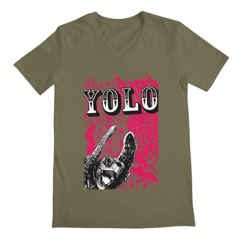YOLO Men's Regular V-Neck by StudioDaboo's Artist Shop