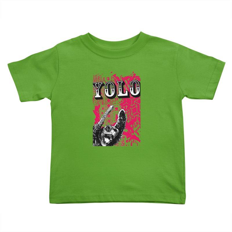YOLO Kids Toddler T-Shirt by StudioDaboo's Artist Shop