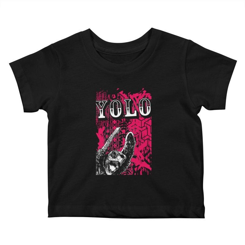 YOLO Kids Baby T-Shirt by StudioDaboo's Artist Shop