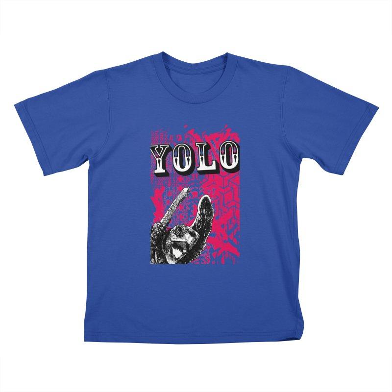 YOLO Kids T-Shirt by StudioDaboo's Artist Shop