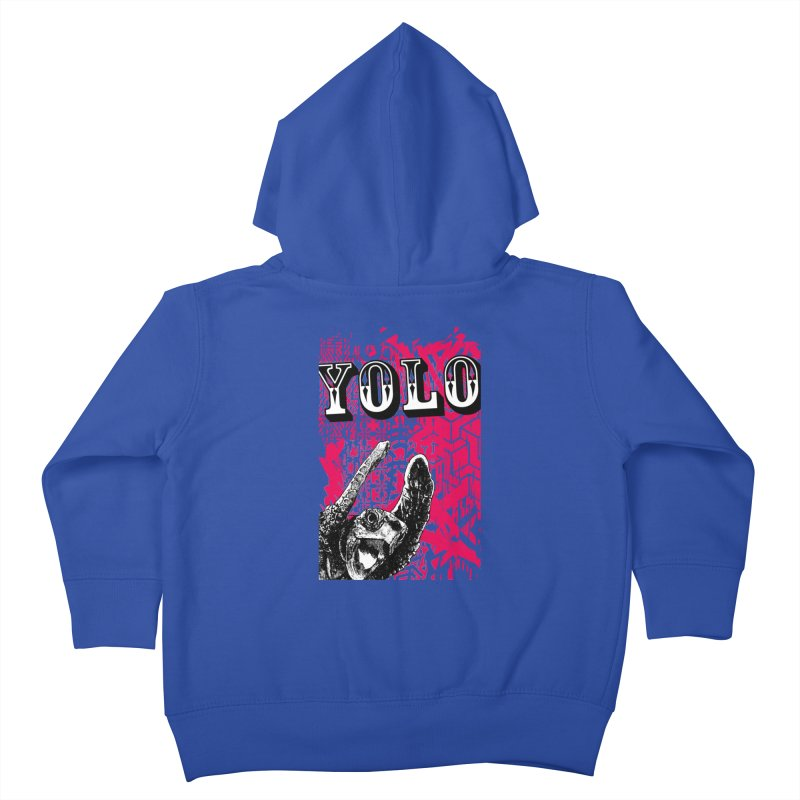 YOLO Kids Toddler Zip-Up Hoody by StudioDaboo's Artist Shop