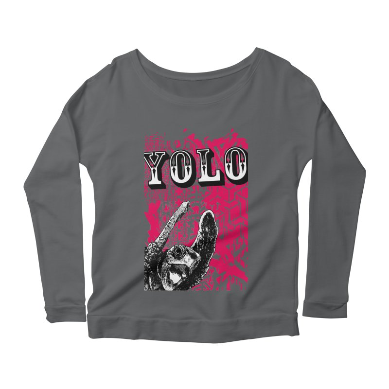 YOLO Women's Scoop Neck Longsleeve T-Shirt by StudioDaboo's Artist Shop