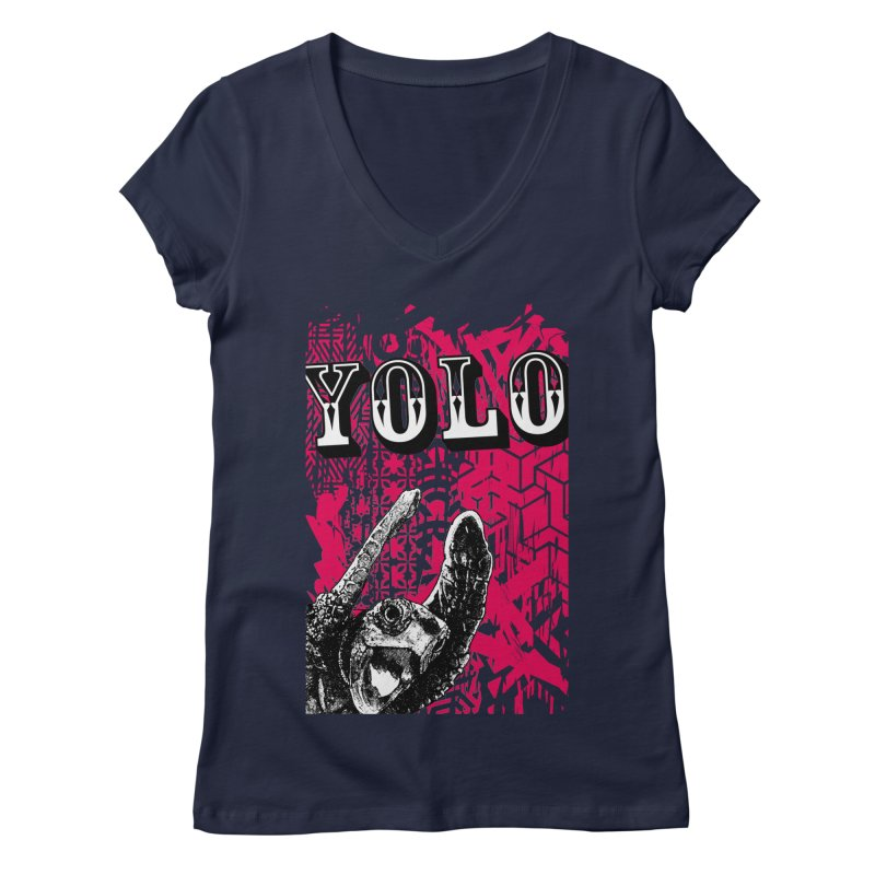 YOLO Women's Regular V-Neck by StudioDaboo's Artist Shop
