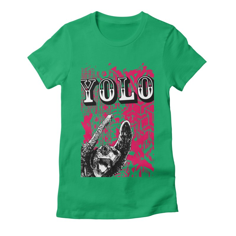 YOLO Women's Fitted T-Shirt by StudioDaboo's Artist Shop