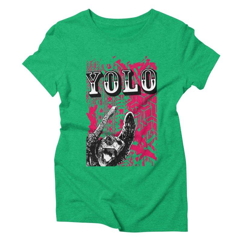 YOLO Women's Triblend T-Shirt by StudioDaboo's Artist Shop