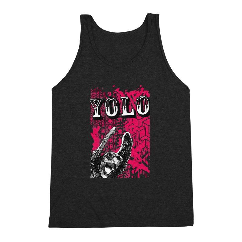 YOLO Men's Triblend Tank by StudioDaboo's Artist Shop