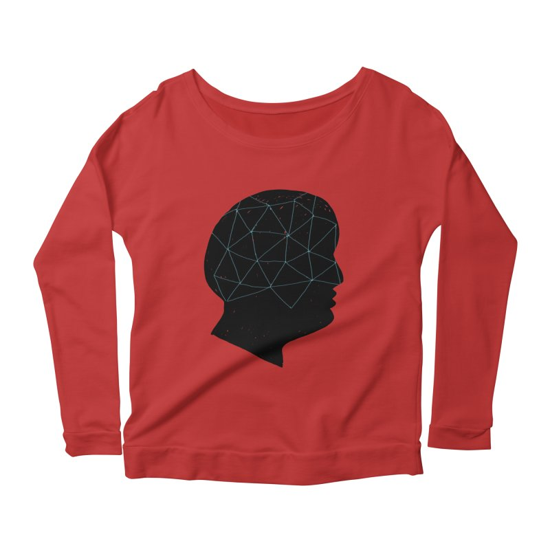 INSIDE & OUT Women's Scoop Neck Longsleeve T-Shirt by STUDIO FORONDA DESIGN SHOP