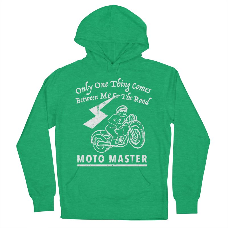 MOTO MASTER Men's French Terry Pullover Hoody by STUDIO FORONDA DESIGN SHOP