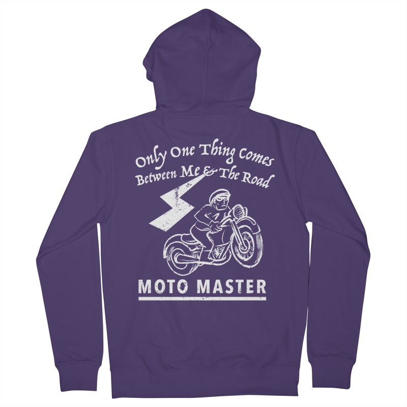 MOTO MASTER Women's French Terry Zip-Up Hoody by STUDIO FORONDA DESIGN SHOP