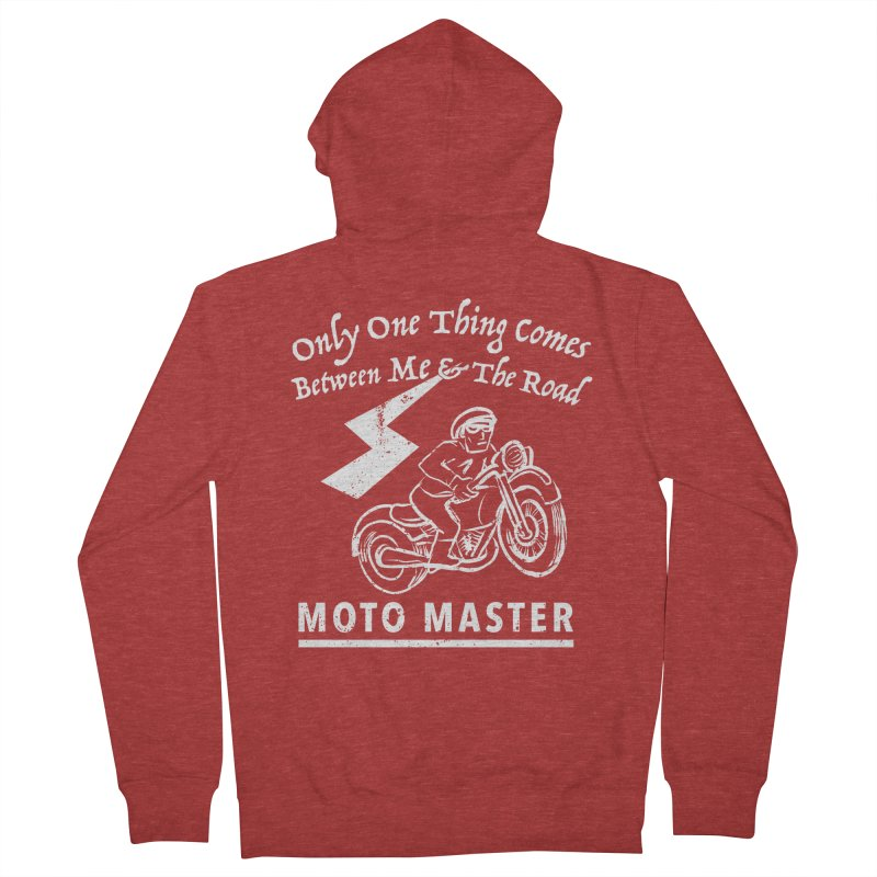 MOTO MASTER Men's Zip-Up Hoody by STUDIO FORONDA DESIGN SHOP
