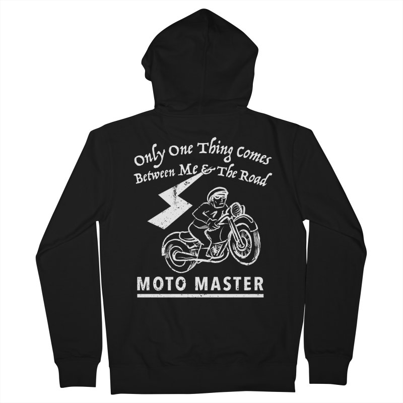 MOTO MASTER Men's French Terry Zip-Up Hoody by STUDIO FORONDA DESIGN SHOP